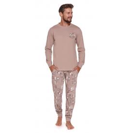Vyriška pižama PMB 4329 BEIGE
